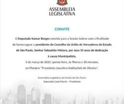 Homensagem Sebastião Misiara na ALESP