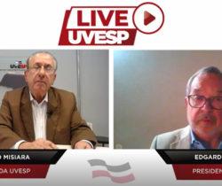 Live da UVESP com Edgard Rodrigues – Presidente do Tribunal de Contas do Estado de SP