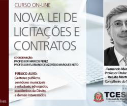 Tribunal de Contas promove terceira aula do curso sobre nova Lei de Licitações no dia 7