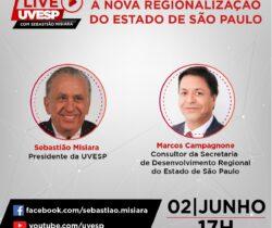 Live UVESP – A nova regionalização do Estado de São Paulo