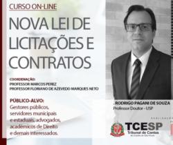 Quarta aula de curso do TCESP sobre nova Lei de Licitações ocorre dia 14