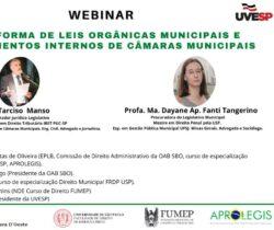Debate virtual sobre: Reforma de Leis Orgânicas Municipais e Regimentos Internos de Câmaras Municipais