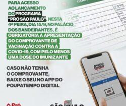 """Programa de investimentos """"Pró São Paulo"""""""