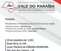 UVESP forma o Parlamento Regional Metropolitano do Vale do Paraíba
